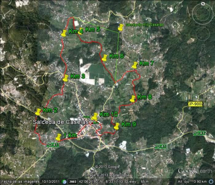 Salceda De Caselas Mapa.Mapa Caselas Mapa